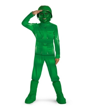 Toy Story Green Army Man Kids Costume deluxe