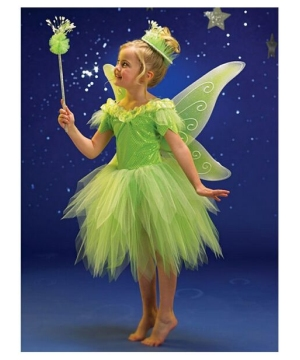 Green Fairy Girls Costume