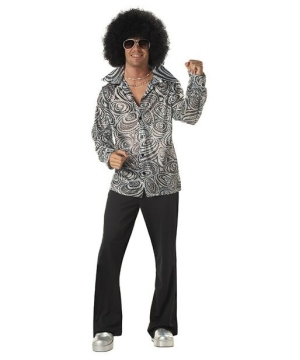 Groovy Disco Shirt Men Costume