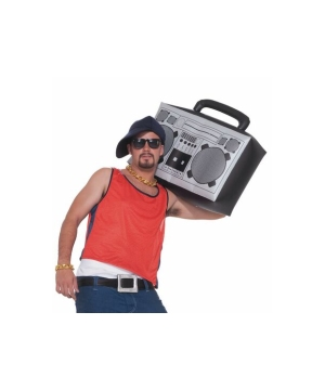 Inflatable Boom Box Costume Accessory