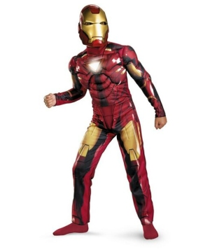 Iron Man 2 Mark Vi Light up Kids Costume deluxe