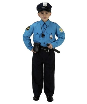 jr police officer boys costume
