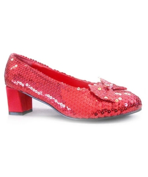 Judy Red Sequin Shoes - Adult Shoes