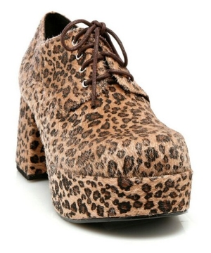 Leopard Pimp Adult Shoes