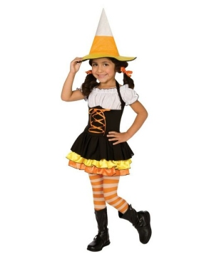 Little Candy Corn Witch Kids Costume