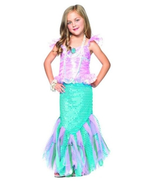 Magic Mermaid Girl Costume