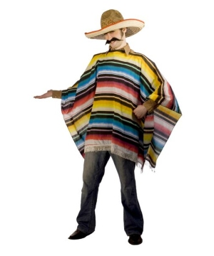 Mexican Serape and Sombrero Costume - Adult Costume