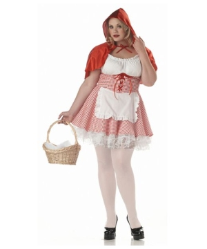 Miss Red Riding Hood Costume - plus size Adult Costume