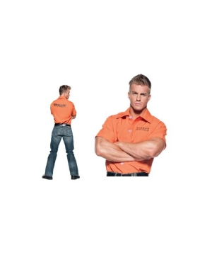 Orange Prisoner Shirt Adult Costume