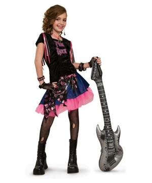 Pink Rock Girl Kids Costume