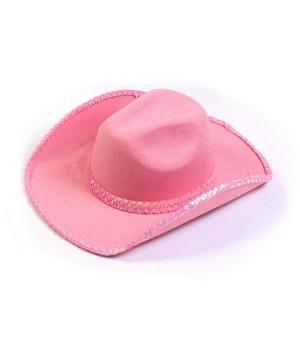 Pink Sequin Cowboy Adult Hat