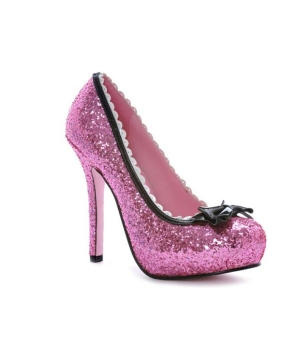 Pink Glitter Princess Adult Shoes