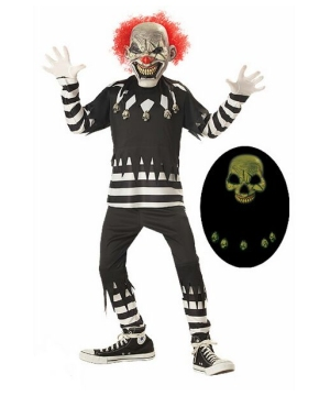 Psycho Clown Kids Costume