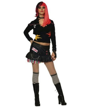 Punk Rock Star Adult Costume