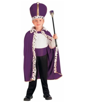 Purple King Robe and Crown Boys Costume