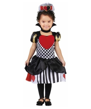 Queen of Hearts Toddler Girl Costume