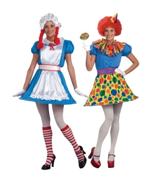 Reversible Ragdoll Clown Womens Costume