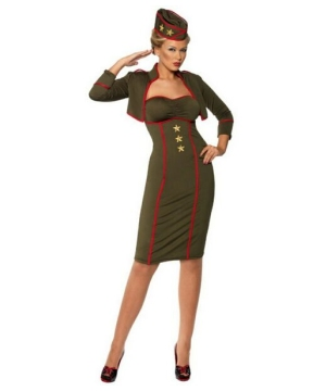 Retro Army Girl Women Costume