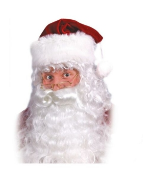 Santa Beard and Wig Set - Adult Costume Accessory