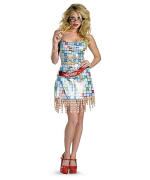 Deluxe Scrabble Sassy Adult Costume