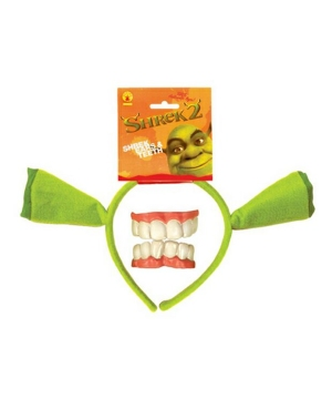 Shrek Ears and Teeth - Adult Accessory