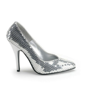 Silver Sequin Heels - Adult Shoes