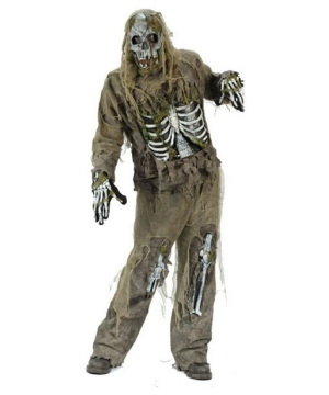 Skeleton Zombie Men Costume