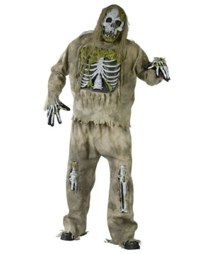 Skeleton Zombie Adult plus size Costume