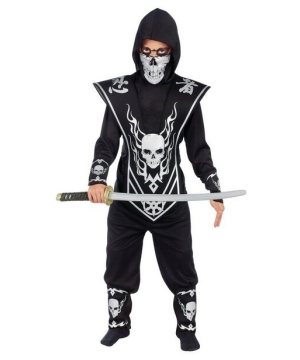 Skull Lord Ninja Kids Costume - Black