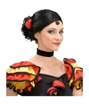 Spanish Senorita Adult Wig