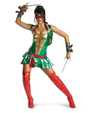 Sexy Ninja Turtles Women Costume - Red