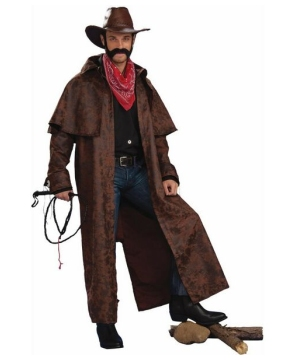 Tex Duster Coat Costume - Adult Costume