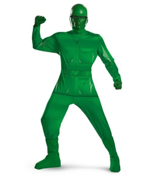 Toy Story Green Army Man Adult plus size Costume deluxe