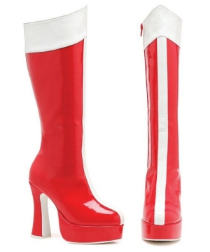 Valerie Red and White Boots - Adult Accessory