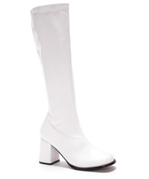 White Go Go Boots Adult Shoes