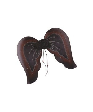 Gothic Wings - Adult Wings - Black/burgundy Glitter