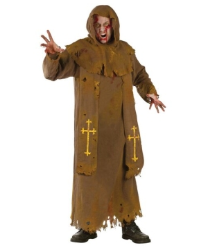 Zombie Monk Mens Costume