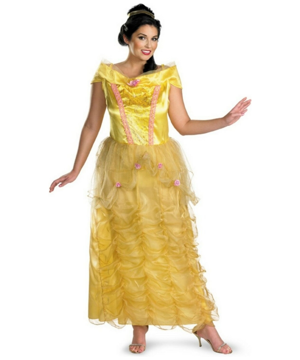 Adult Belle plus size Disney Princess Costume - Women Disney Costumes Beauty And The Beast Belle Pink Dress