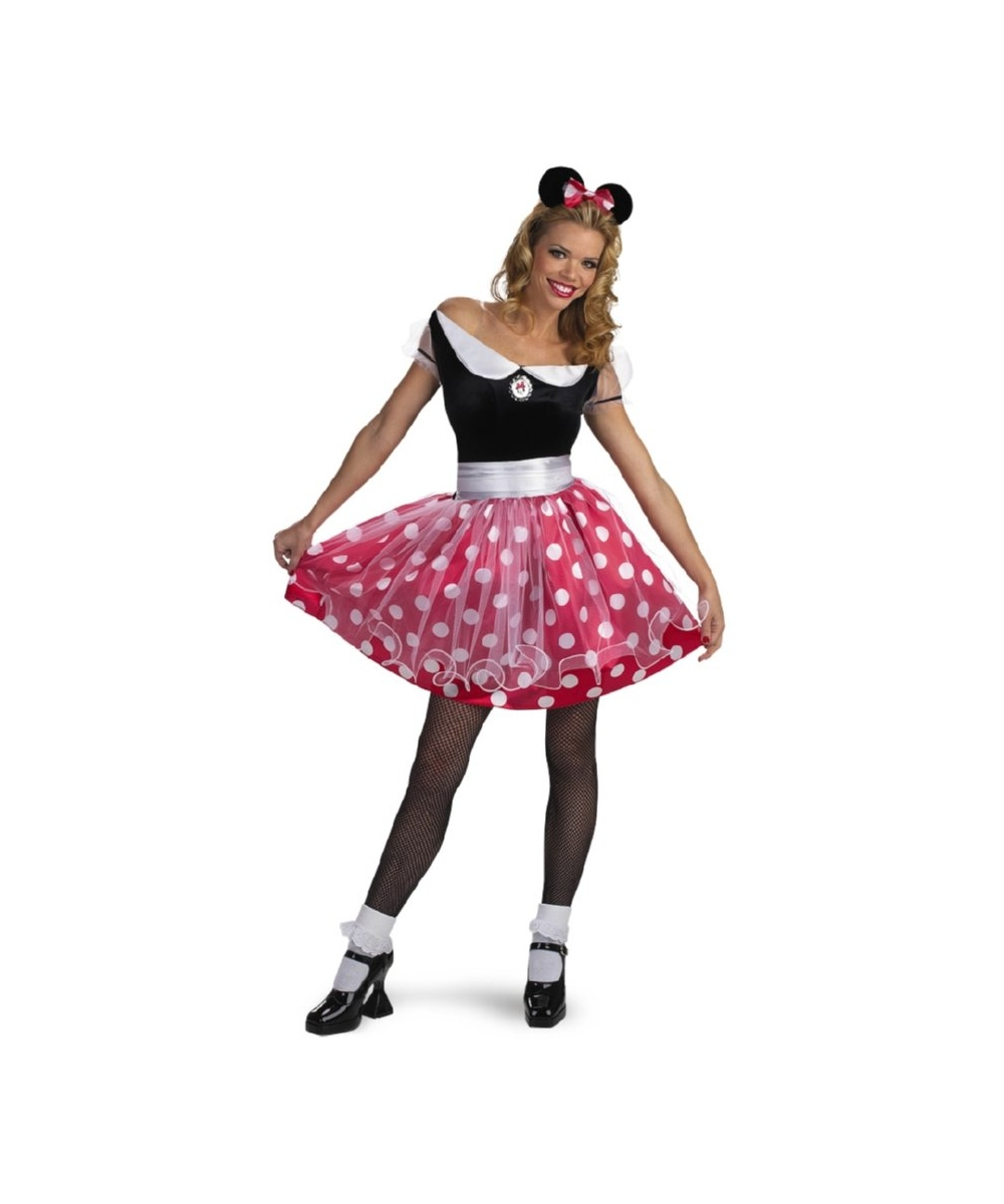 minnie mouse disney adult costume women disney costumes. Black Bedroom Furniture Sets. Home Design Ideas
