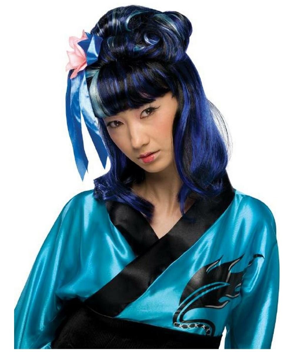 Adult Blue Dragon Lady Halloween Wig