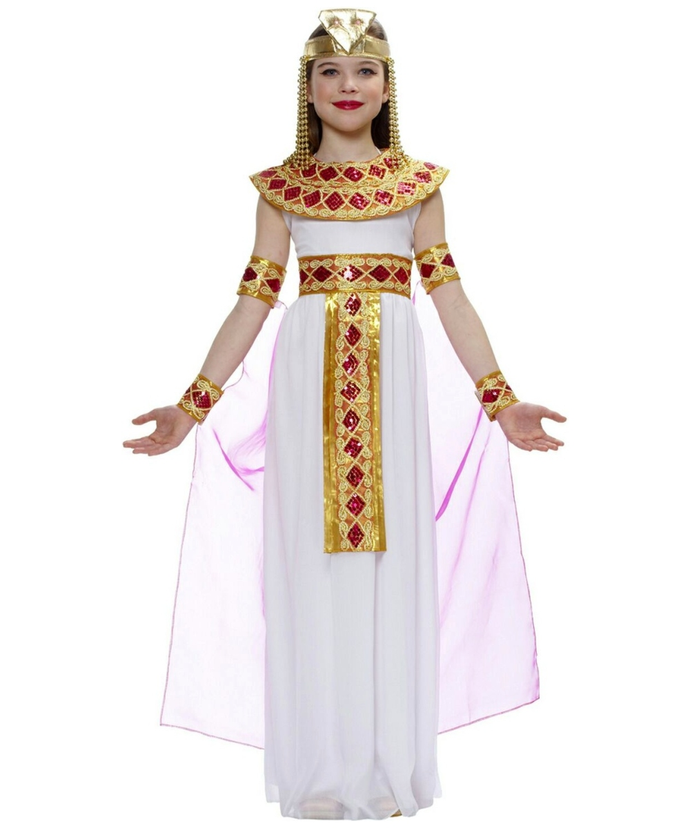 kids pink cleopatra egyptian costume   girls egyptian costumes