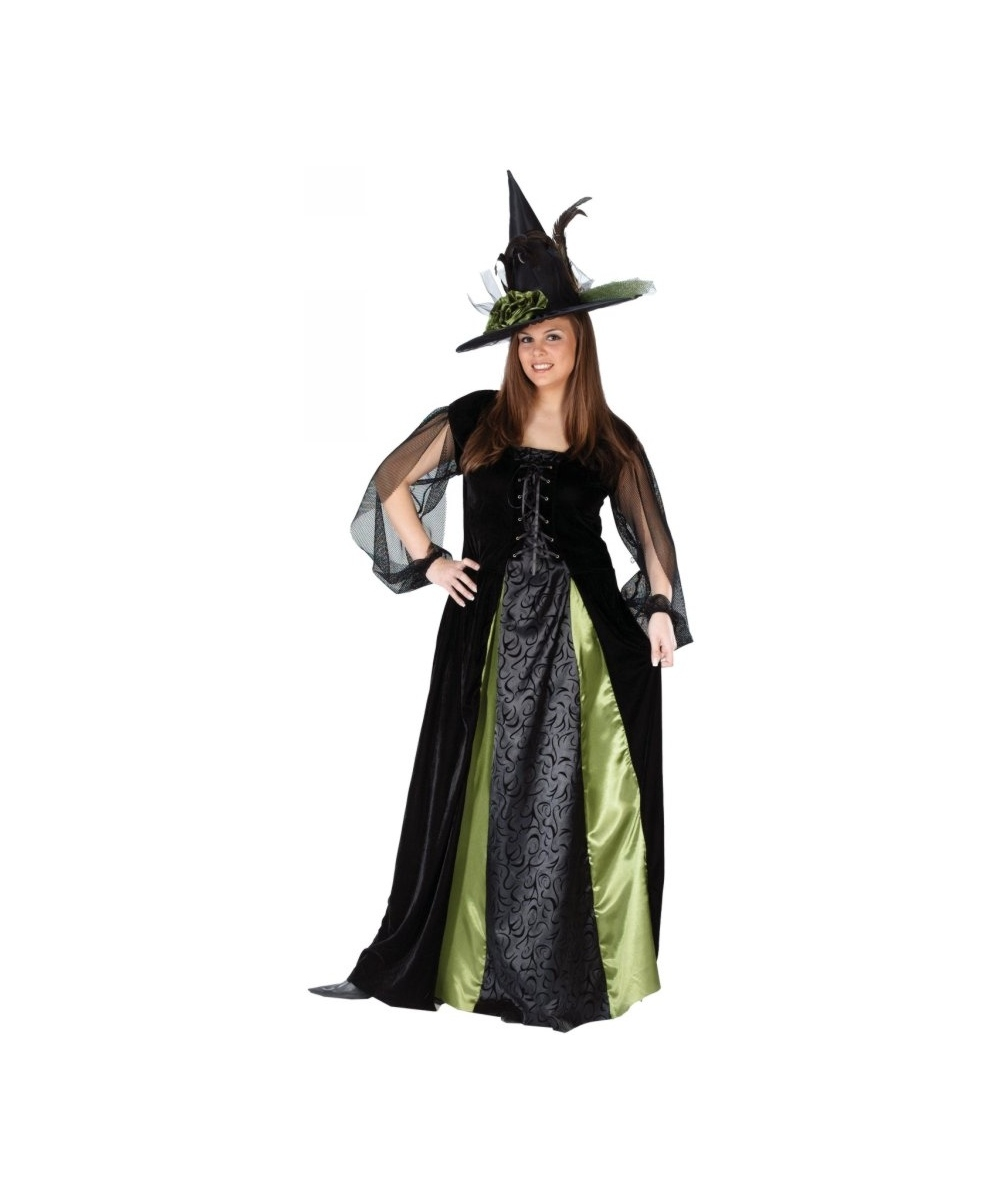 Adult gothic maiden witch plus size halloween costume for Plus size hocus pocus shirt