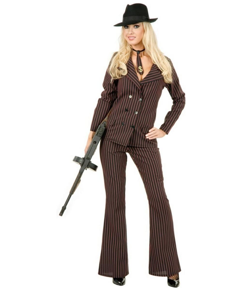 Adults womens 1920s gangster moll mafia outfit smiffys fancy dress