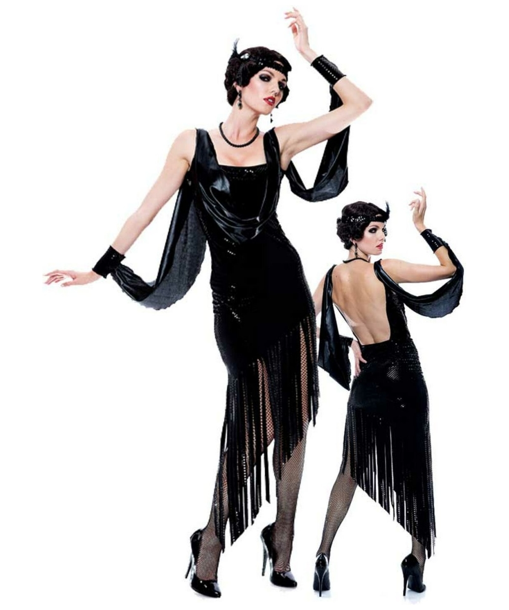 ... 1920s Costumes -> Flapper Costumes -> Glamour Flapper Women's Costume