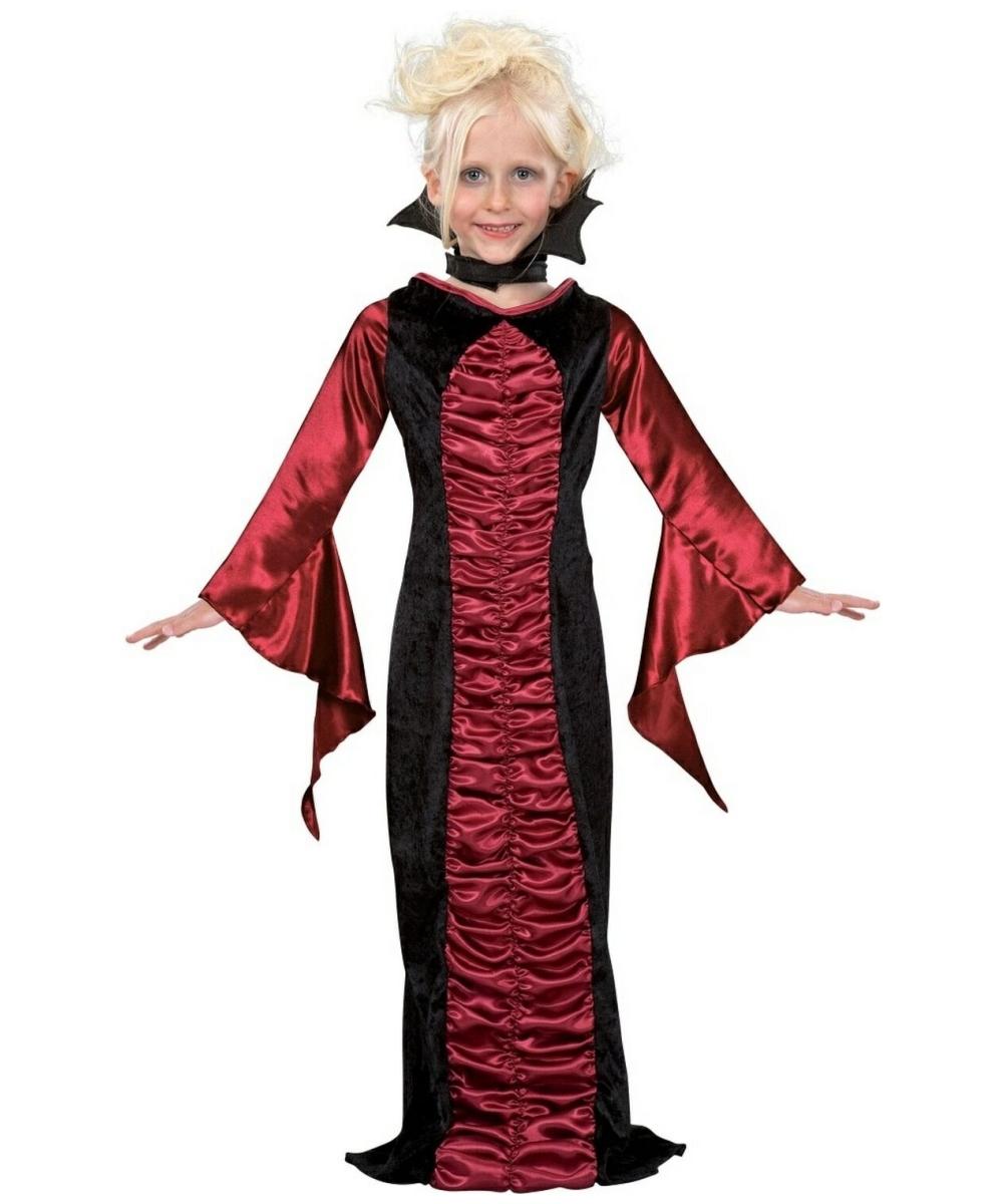 Vampire Gothic Kids Costume - Girl Halloween Costumes