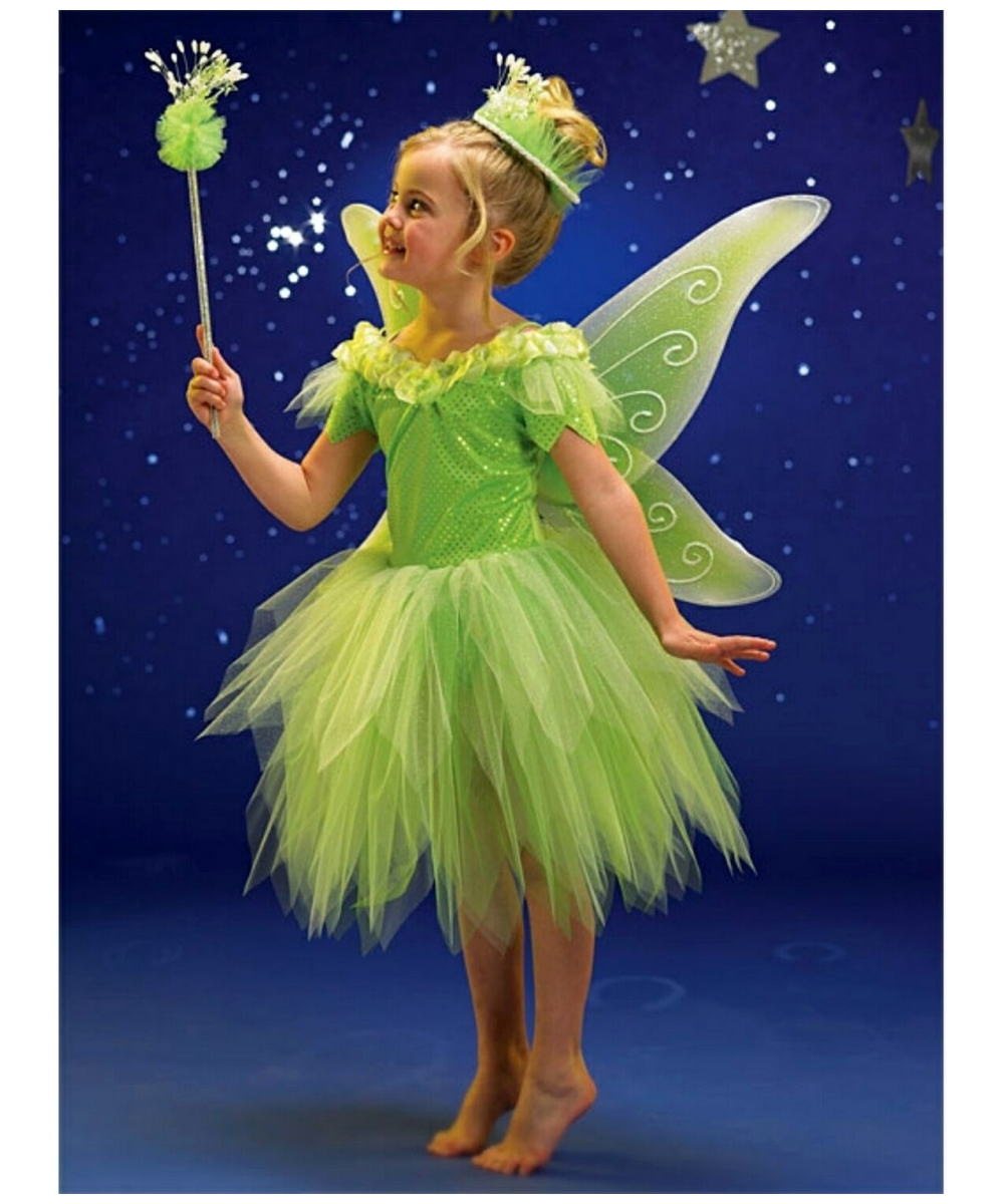 kids green fairy disney girl costume girls fairy costumes