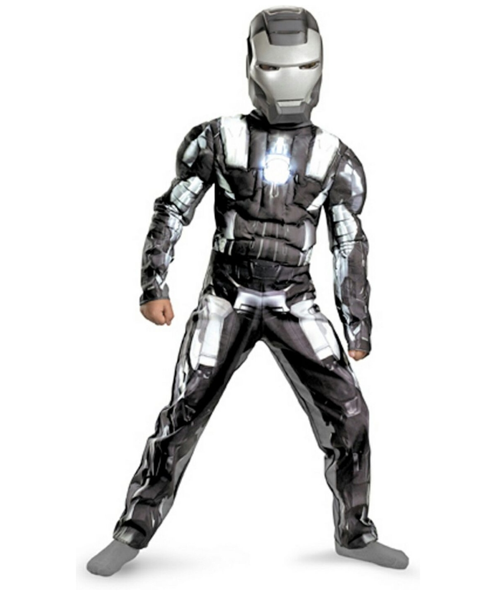 iron man 2 war machine muscle ironman movie costume kids costume. Black Bedroom Furniture Sets. Home Design Ideas