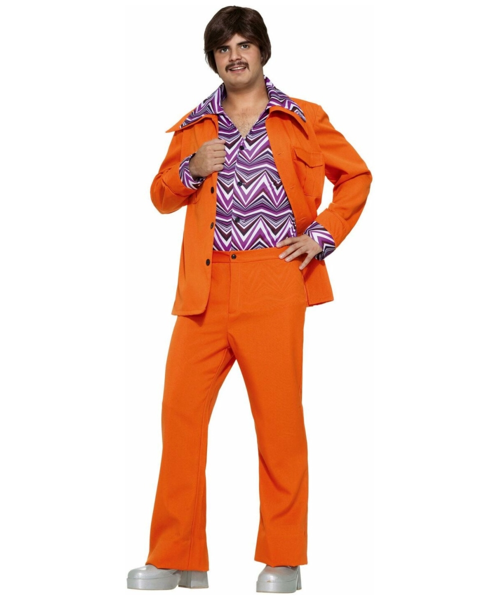 70s Leisure Suit Orange Costume