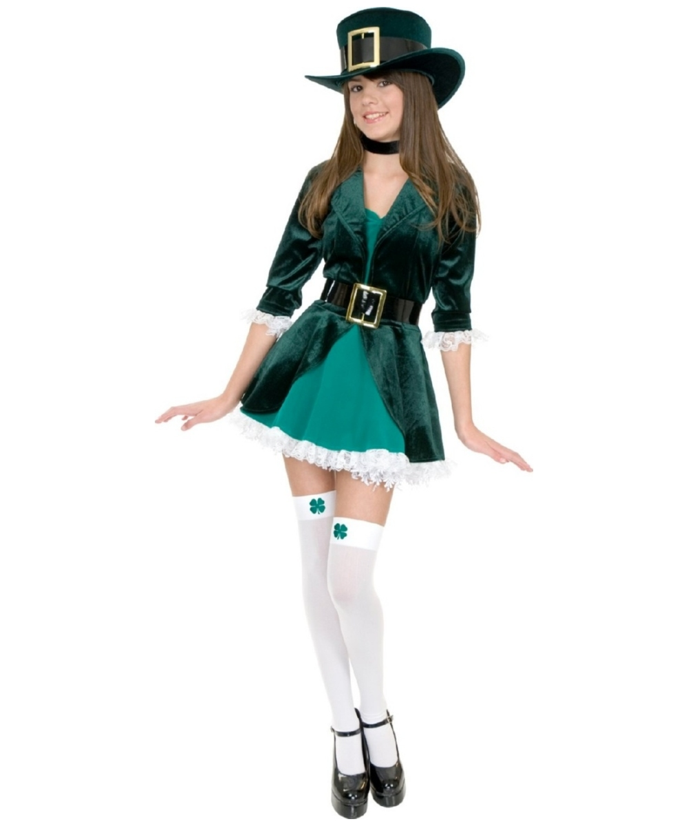 Kids Leprechaun Irish Costume Girls Costumes
