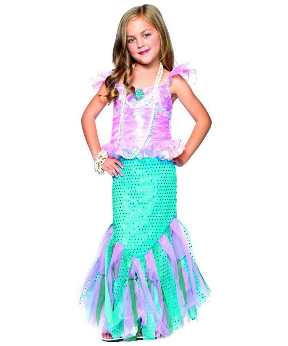 Magic mermaid kids girl costume princess costumes